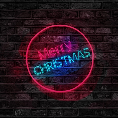 turned-on-red-and-blue-merry-christmas-neon-sign-754430